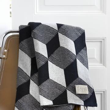 Knitted Blanket Decke Squares von ferm Living in Grau