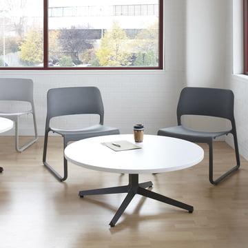 Knoll - Spark Lounge Stuhl, grau, schwarz - Ambiente