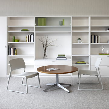 Knoll - Spark Lounge Stuhl, hellgrau - Ambiente, Wohnbereich