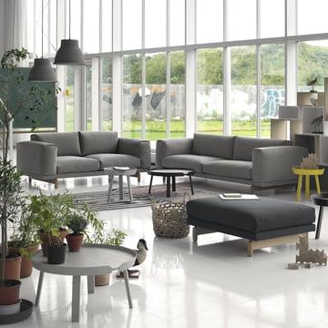 Rest Sofa 2- und 3-Sitzer und Pouf