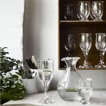 Holmegaard - Idéelle Wasserglas, 19 cl und Rotweinglas, 28 cl
