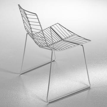 arper - Leaf Stuhl, silber - grauer Hintergrund