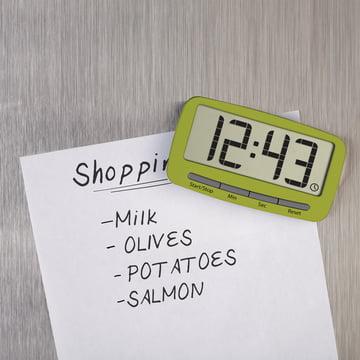 Joseph Joseph - Clip Timer, grün - Magnet, Einkaufsliste