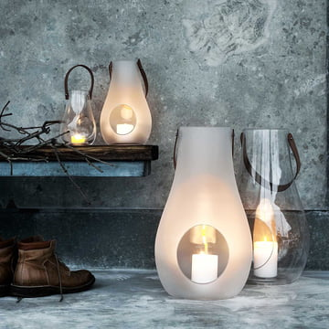 Holmegaard - Design with Light Laterne, 45cm, weiss
