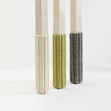 side by side - Socken für Stuhlbeine - Gruppe, grau, grün, creme
