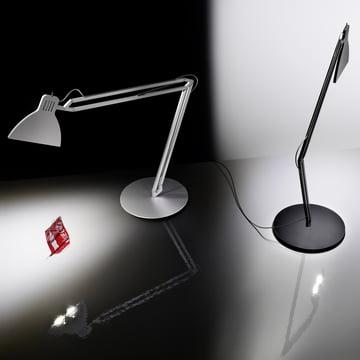Ingo Maurer - Looksoflat Tischlampe, silber, schwarz - Coke