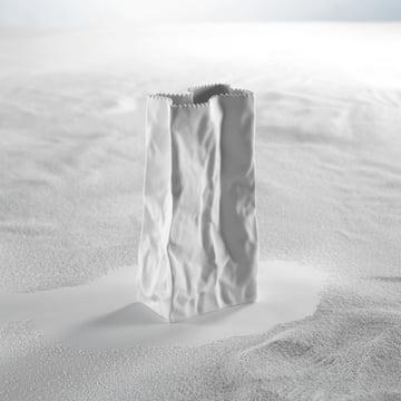 Rosenthal - Tütenvase, weiss - Sand