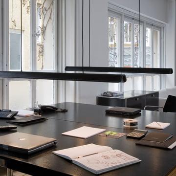 Formagenda - Cohiba Pendelleuchte, schwarz/ schwarz - Büro