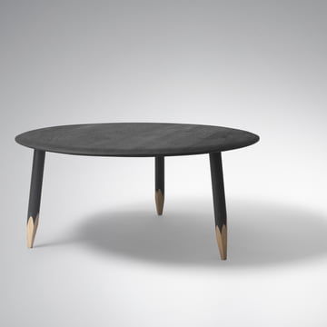 Hoof Table gross von &Tradition in schwarz