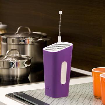 Sonoro - CuboGo London DAB+ Radio, weiss/ violett - Küche