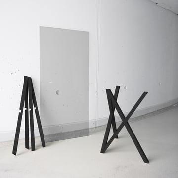 Hans Hansen - Tischbock Mika-Set, schwarz