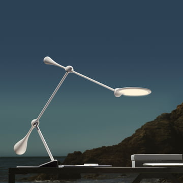 Klein & More - Trapeze LED Tischleuchte, gross, weiss