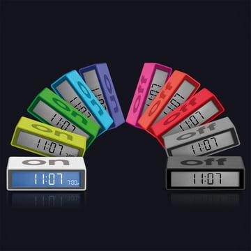 Lexon - Flip LCD-Wecker - Gruppe, Farben