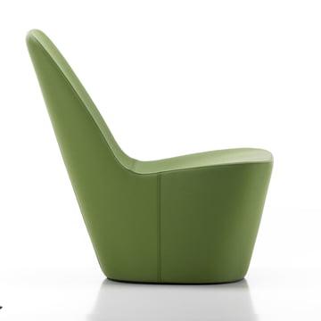 Monopod Sessel, Leder grün