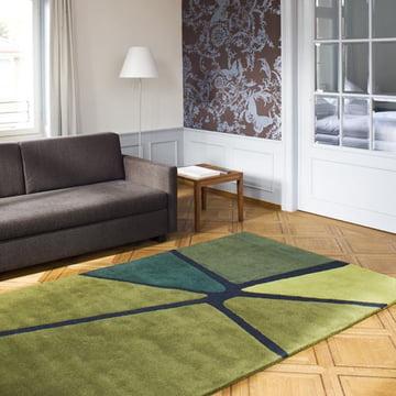 Ruckstuhl - Crack Teppich, olivgrün