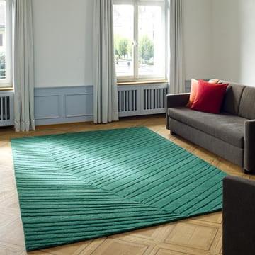 Ruckstuhl - Palm Leaf Teppich, piniengrün