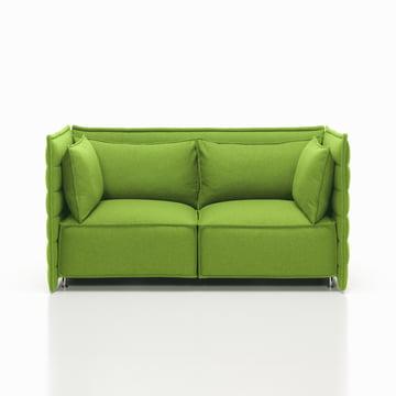 Vitra - Alcove Plume Sofa, grün - 2-Sitzer