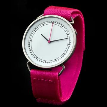 Rosendahl - MUW Armbanduhr, weiss / pink