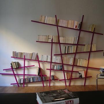 Edition Compagnie - Mikado Bücherregal, gross, klein, pink