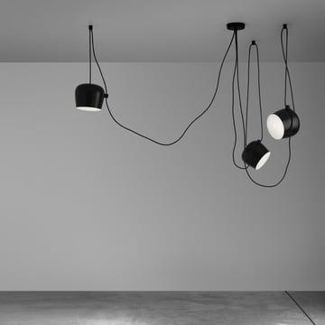 Flos - AIM Pendelleuchte Set, schwarz, Ambiente