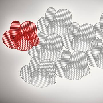 Foscarini - Nuage Wand- und Deckenleuchte, rot, weiss - Gruppe