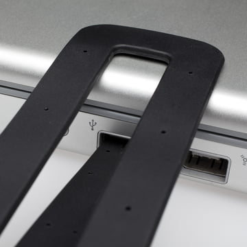 Moleskine - LED Leseleuchte, schwarz - Detail, USB-Anschluss