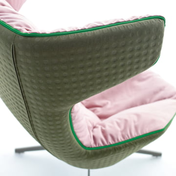 Moroso - take a line for a walk - Leder, grün/rosa