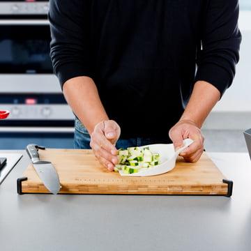 Royal VKB - Chop Organizer, weiss - Gemüse auf den Deckel