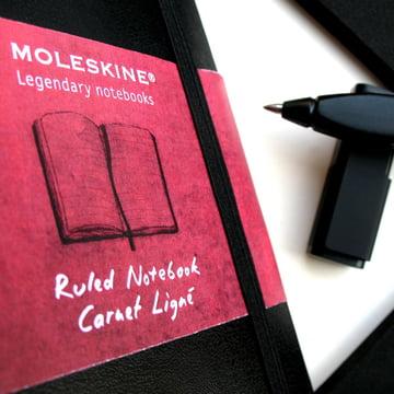 Moleskine - Schreib-Set - Detail, Skizzenbuch, Stift