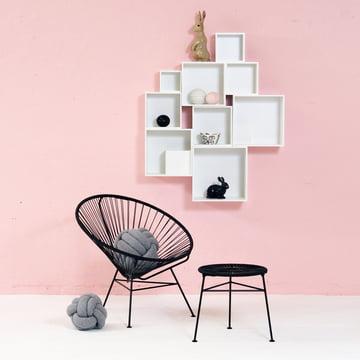 OK Design - Babushka Boxes, weiss, Condesa Chair, schwarz