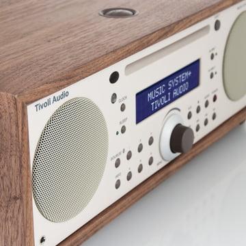 Tivoli Audio - Music System+ BT, walnuss / beige - Seite