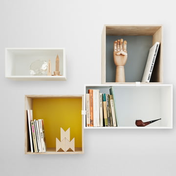 Muuto - Mini Stacked Regalsystem, Ambientebild Wand