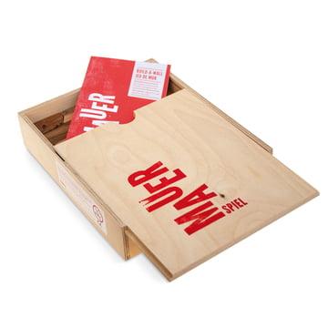 Das Mauerspiel von Lessing in einer praktischen Holzbox