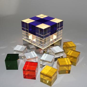 Tecnolumen - Cube Light, klar, blau - einzelne Würfel