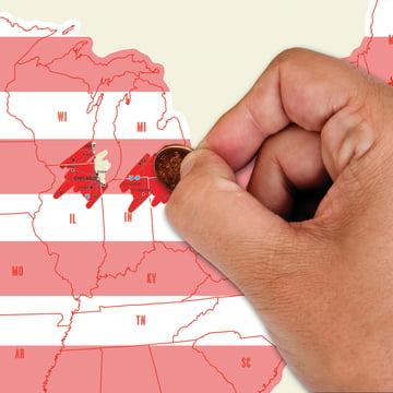 Luckies - Scratch Map USA - teilweise frei