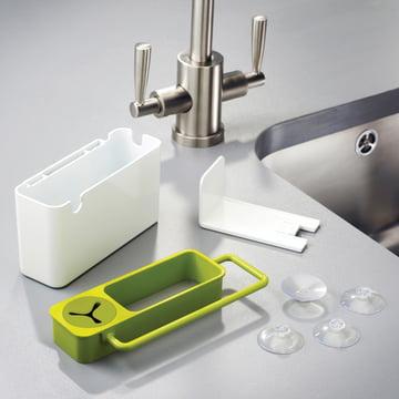 Joseph Joseph - Sink Aid, weiss / grün - Einzelteile