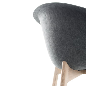 Conmoto - Chairman, Eiche, grau - Detail, Rückseite