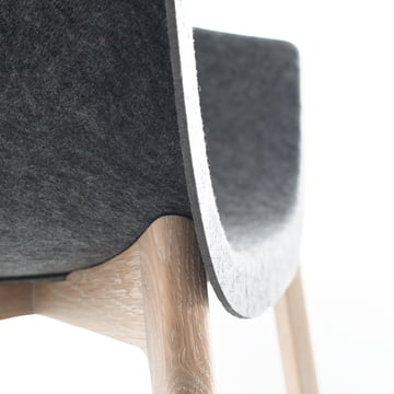 Conmoto - Chairman, Eiche, grau - Detail, vordere Kante