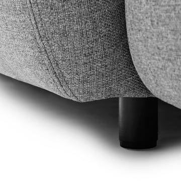 Normann Copenhagen - Swell 3-Sitzer, grau - Detail, Fuss