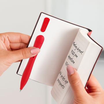 Bobino - Slim Pen, rot - im Notizbuch