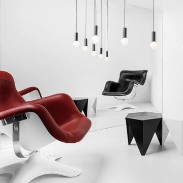 Artek - Karuselli Lounge Chair, rot / weiss