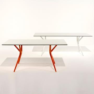 Kartell - Spoon Tisch, weiss und orange