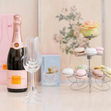 Rosendahl - Grand Cru Champagnergläser mit Flasche