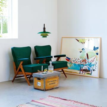Louis Poulsen - PH 3 1/2 - 3 Pendelleuchte, grün