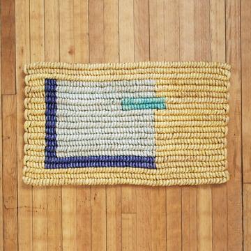 Above Home Fussbodenmatte, gelb auf Pakett