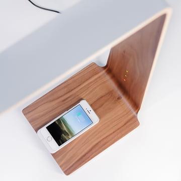 Led 8 Tischleuchte von Tunto mit bahnbrechender Qi-Wireless-Ladetechnologie