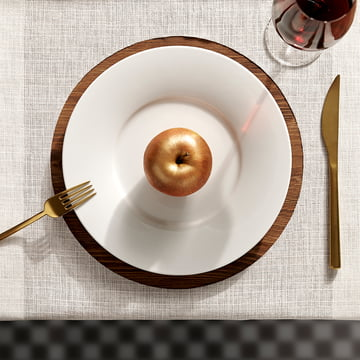 Kahla - Magic Grip Tafelservice, weiss, bronzefarbener Apfel