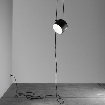 Flos - AIM Pendelleuchte schwarz, cable+plug 1