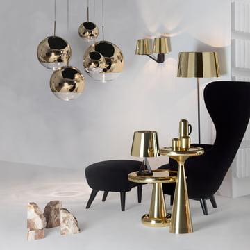 Tom Dixon - Mirror Ball Gold Pendelleuchte