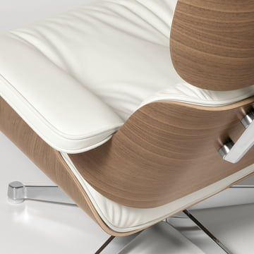 Lounge Chair von Vitra Leder Premium Snow